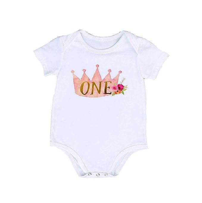 Amazon.com: Bebé Niñas Niños Un Año Viejo cumpleaños ...