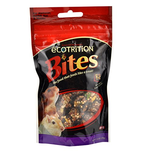 eCOTRITION Bites Hamster/Gerbil Pig Food, 2.5-Ounce