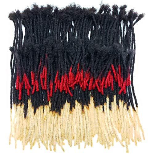 100% Human Hair Dreadlocks Extensions Handmade Medium 1/4