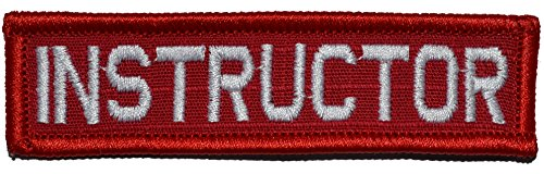 Instructor Hat Nametape 1x3.75 Morale Patch - Full Color