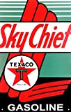 Texaco Sky Chief Tin Sign 10 x 16in