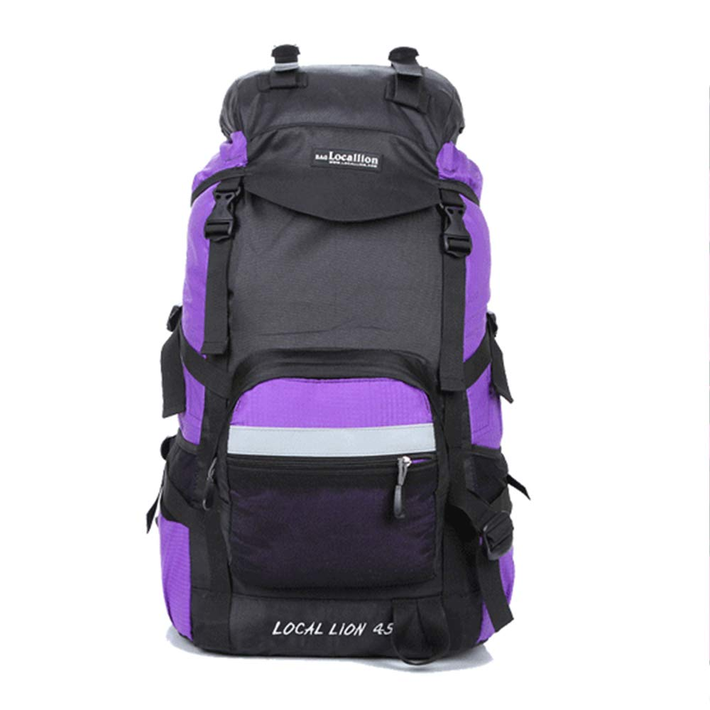 violet  WYGRACE Sac à Dos De RandonnéE Multifonctionnel Portatif ImperméAble LéGer 45L Nylon