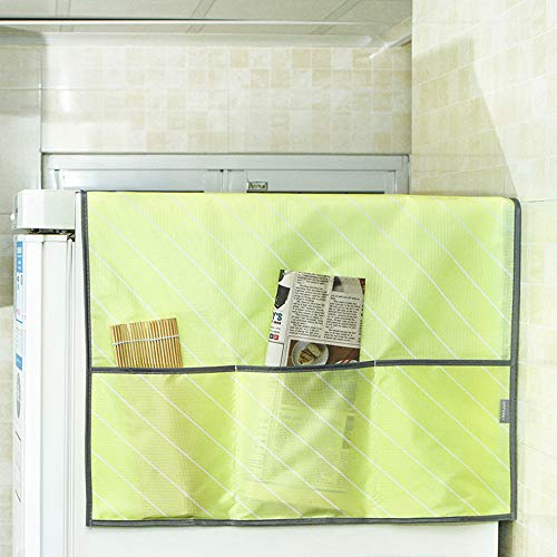 Gotian Household Waterproof Refrigerator Dust Cover with Storage Bag for Kitchen Washin - 55x130cm (Yellow)