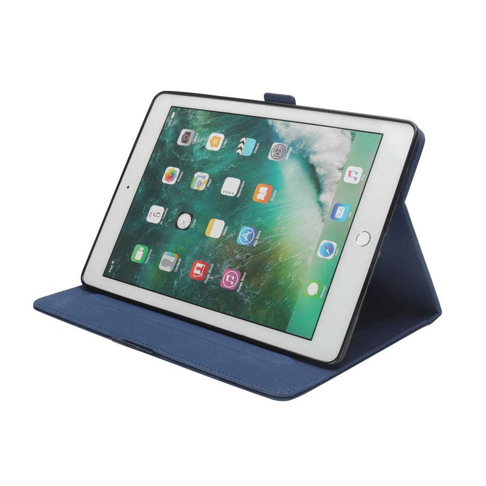 New iPad 12.8'' Case for Men, YiMiky Luxury Book Style Folding Stand Case with Document Pocket Card Slots Folio Smart Case Protective Cover Slim Stand Shell for iPad Pro 12.8 Inch - Dark Blue by YiMiky (Image #5)