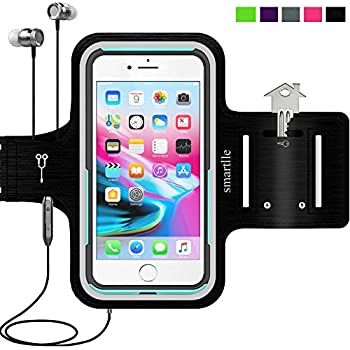 Sport Armband Water Resistant Running Case for iPhone Xs Max,XR,8 Plus,7 Plus,6s Plus,Samsung Galaxy,LG,MOTO,with case (otterbox/others) on.