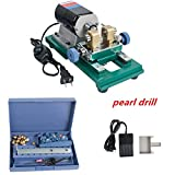 Pearl Driller,vinmax Pearl Drilling Machine Stepless Beads Drill Holing Machine Full Set Jewelry Tools bits kit,110V 200W US Shipping