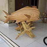 Mahi Mahi Hand Carved 32'' w/ Drift Wood Base - Hawaii Heritage