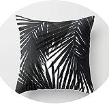 Pillow Black White Spots Stripes Massager Pillows Linen Zip DIY Home Decor 18X18'',Green
