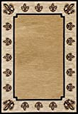 Cheap Art Carpet Isabelle Collection Fleur De Lis Woven Area Rug, 5′ x 8′, Cream/Brown