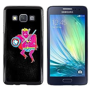 MOBMART Carcasa Funda Case Cover Armor Shell PARA Samsung Galaxy A3 - The Pink Warrior