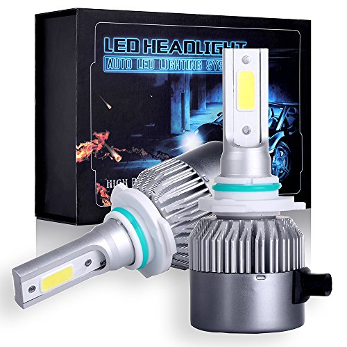 SCITOO 9006/HB4 Cree Combo Set Upgrade LED Headlight Kit Bulbs, Super Bright 80W, 6500K, 7200LM Dual Beam Head Lamp Bulbs ()
