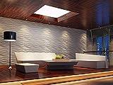 Art3d Decorative 3D Wavy Wall Panel Design Pack of