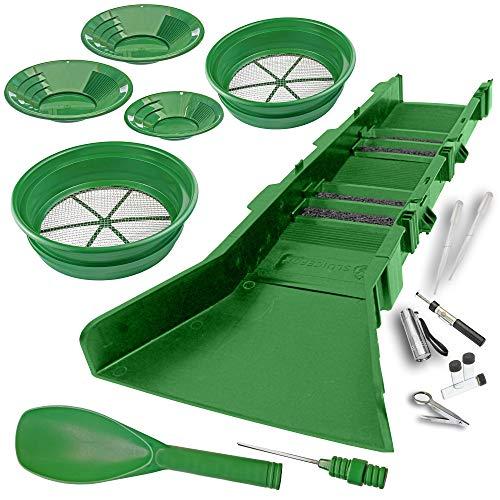 Sluice Fox 17 Piece Gold PAN PANNING KIT - Sluice Box; Classifiers; Pans; Tweezers; ()