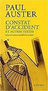 Constat d'accident et autres textes par Auster