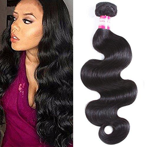Pretty Coco 8A Brazilian Body Wave One Bundle 20 inch Body Wave Human Hair Bundle 100% Unprocessed Virgin Braziian Body Wave Single Bundle Very Soft (20, Natural Color)