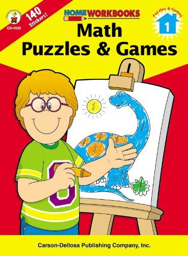 Math Puzzles & Games, Grade 1 (Home Workbooks)