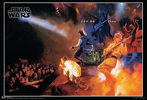 Rock Concert Poster (Star Wars Rocks Concert Music Poster 19 x 13in)
