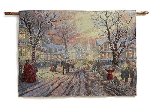 Thomas Kinkade Fiber-Optic Wall Tapestry - Hometown(Vict...