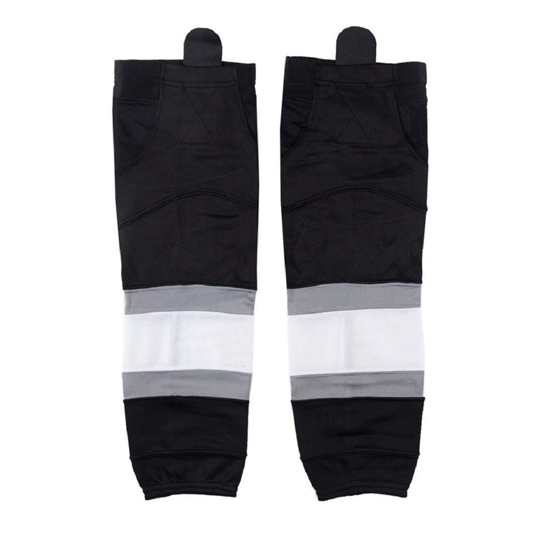 Hockey Socks(2Pack), EALER Mens & Boys Striped Color Dry Fit Mesh Practice Ice Hockey Sock. by EALER