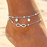 CrazyPiercing Women Fashion Double Chain Ankle Anklet Bracelet Barefoot Sandal Beach Foot Gift