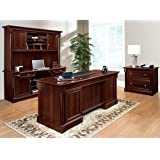 Sauder Office Furniture Palladia Collection Cherry Office Set With Desk,  Credenza, Hutch And File