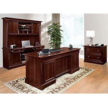 Exceptionnel Sauder Office Furniture Palladia Collection Cherry Office Set With Desk,  Credenza, Hutch And File
