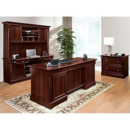 office furniture collection. Sauder Office Furniture Palladia Collection Cherry Set With Desk, Credenza, Hutch And File M