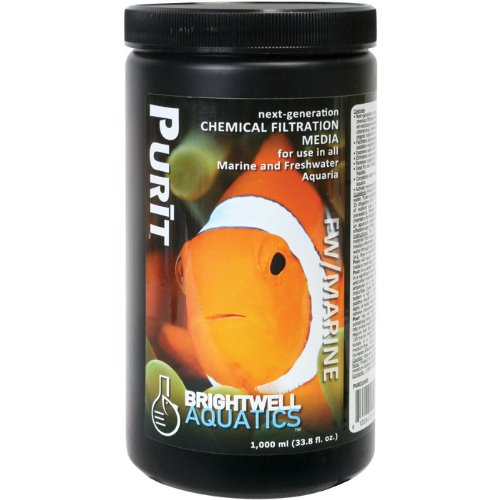 Purit, Next-Generation Chemical Filtration Media for Use in All Marine & Freshwater Aquaria, 1 Liter by Brightwell Aquatics