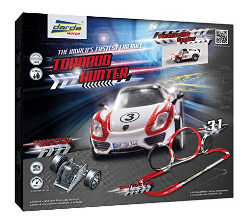 Race Darda - KSM Toys Darda Tornado Hunter Race Track Set with Porsche Toy Car for Ages 5+