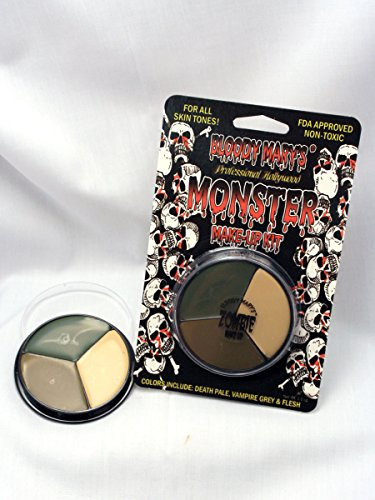 Bloody Mary Makeup Tri Color Zombie Foundation Wheel