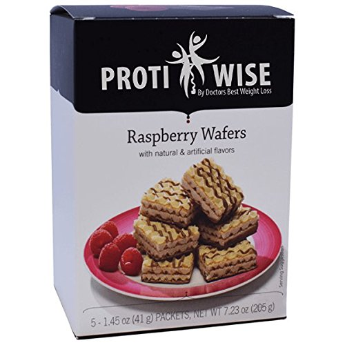 ProtiWise - High Protein Diet | Raspberry Wafers | Low Calorie, Low Fat, Low Sugar (5/Box)