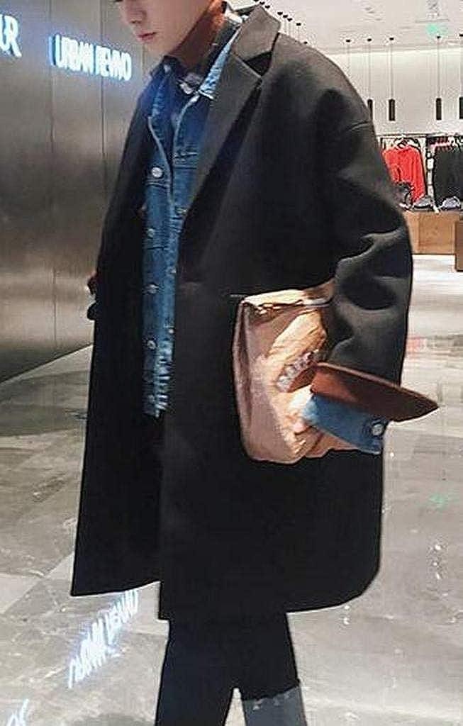 MMCP Mens Plus Size Warm Winter Wool Wlend Trench Pea Coat Jacket Overcoat