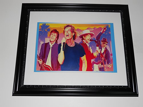 Large Framed Rock Legends Poster Paul McCartney, Pete Townshend, Mick Jagger, Bob Dylan 24