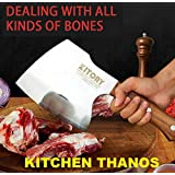 Kitory Heavy Duty Cleaver Butcher Knife Axes for Meat and Bone Chopper cutter breaker Traditional Forged Cleaver for…