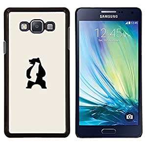 KLONGSHOP // Cubierta de piel con cierre a presión Shell trasero duro de goma Protección Caso - oso enojado - Samsung Galaxy A7 A7000 //
