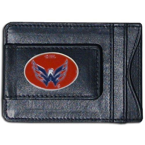 NHL Washington Capitals Genuine Leather Cash and Cardholder - Nhl Washington Capitals Leather