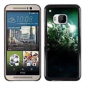 Be Good Phone Accessory // Dura Cáscara cubierta Protectora Caso Carcasa Funda de Protección para HTC One M9 // Desert Lights Night Green