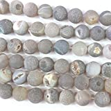 fashiontrenda Natural Druzy Agate Round Findings Jewerlry Making Gemstone Loose Beads 12mm