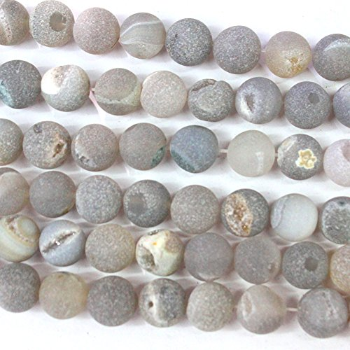 Natural Druzy Agate Round Findings Jewerlry Making Gemstone Loose Beads (Druzy Agate)