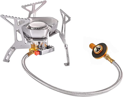 3500W Windproof Camping Gas Stove Outdoor Cooking Stove Foldable Split Burner UK