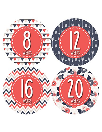 Months in Motion 917 Pregnancy Baby Bump Belly Stickers Maternity Week Sticker