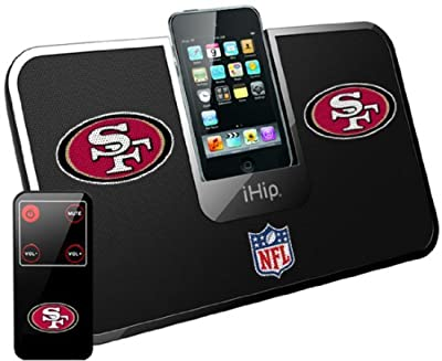 iHip Official NFL Portable iDock Stereo Speaker with Wireless Remote