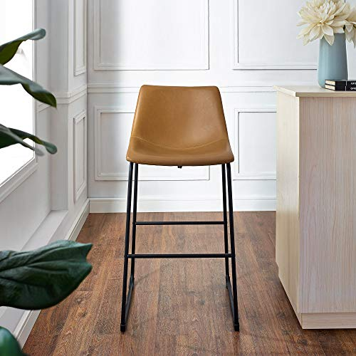 WE Furniture AZHL30WB Barstool 30 Whiskey Brown