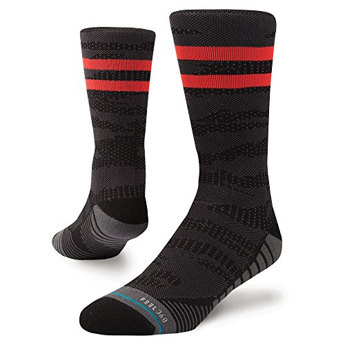 Price comparison product image Stance Mens Traiing Uncommon Solids Crew Socks (Black, Large)