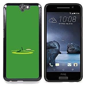 """Qstar Arte & diseño plástico duro Fundas Cover Cubre Hard Case Cover para HTC One A9 (Extranjero cortador de césped - Gracioso"""")"""
