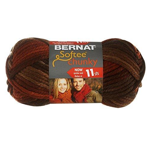 Bernat Softee Chunky Ombre Yarn, Terra Cotta Mist by (Yarn Terra Cotta Mist)