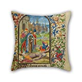 Loveloveu 20 X 20 Inches / 50 By 50 Cm Oil Painting Lieven Van Lathem (Flemish - The Martyrdom Of Saint Andrew Pillow Covers ,each Side Ornament And Gift To Car,son,adults,home Theater,bedding,relat