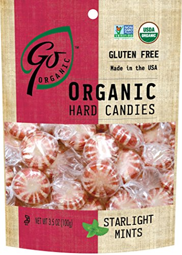 GoOrganic Organic Hard Candies, Starlight Mints, 3.5 Ounce Bag (Pack of 6)
