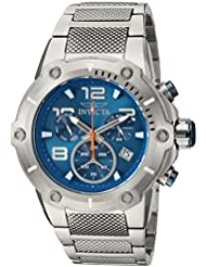 Invicta Mens Speedway Swiss Quartz Stainless Steel Casual Watch, Color:Silver-Toned (Model: 19527)