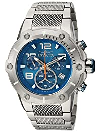 Invicta Men's 'Speedway' Swiss Quartz Stainless Steel Casual Watch, Color: Silver-Toned (Model: 19527)